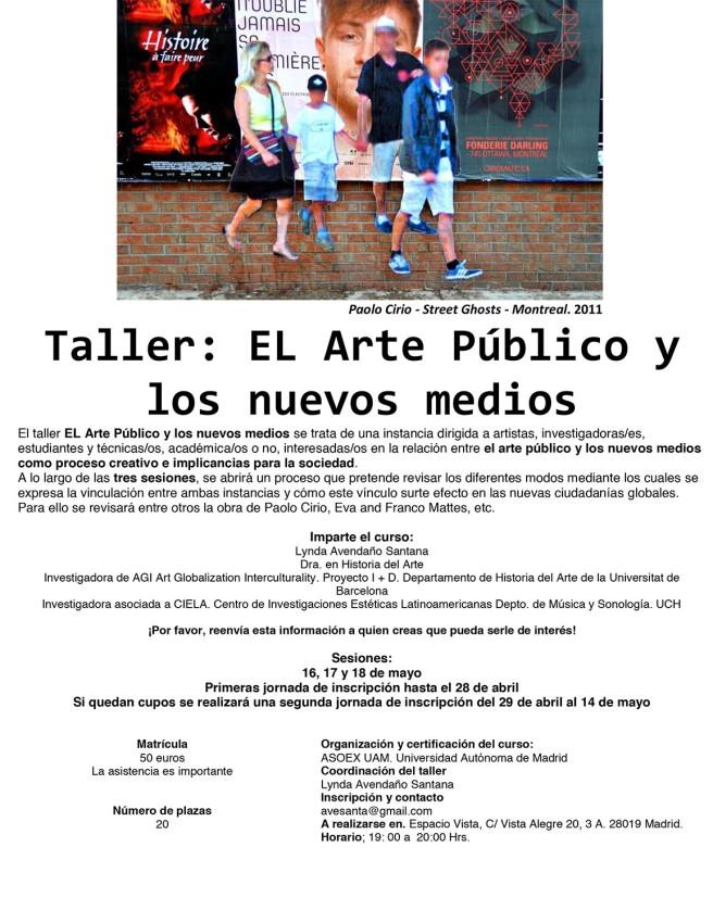 taller Arte público y nuevos medios
